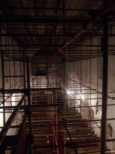 interior scaffolding